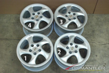 Porsche 911 993 Twin Turbo Twist Wheel Set Hollow Spoke Wide  99336213600  99336214000  10x18 ET40  8x18 ET52