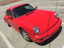 1990 Porsche 911 964 Red Carrera 2 Coupe Manual 2WD Transmission