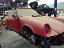 Porsche 911 964 1991 Carrera Cabriolet Chassis Body Shell Salvage Project Car
