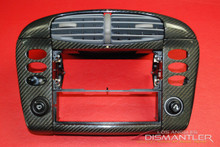 Porsche 911 996 Carbon Fiber Center AC Dash Trim Cover Bezel Leather Trim Vent