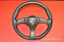 Porsche 911 Hub Atiwe Type 32 Steering Wheel Black Leather 3-Spoke Used 70111