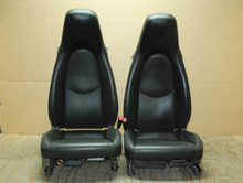 Porsche 911 987 997 Cayman Cooled / Heated Seats Pair Black Perforated Leather