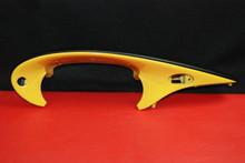 Porsche 986 Boxster Black Dash Cluster Cover Yellow Trim 98655205500 Dashboard