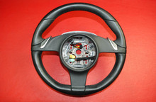 Porsche 987 Boxster911 997 Carrera PDK Steering Wheel Black Leather 99734780365