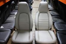 Porsche 964 Light Gray Supple Front Seats