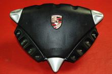 Porsche 955 Cayenne Black Steering Wheel Airbag + Controls 7L5880201 EH 3U9 OEM