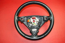 Genuine Porsche 955 Cayenne Black Vinyl 3-Spoke Steering Wheel 7L5419091 AT 5Z3