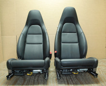 Porsche 911 991 Carrera C4S 981 Boxster 981c Cayman Pair of Black Memory Seats