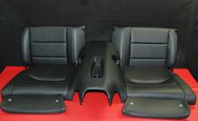 Porsche 911 991 GT3 Carrera C4S Rear Seats Set (5) Black Vinyl Genuine OEM Seat