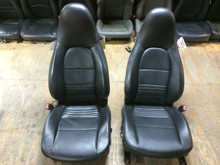 Porsche 911 996 Carrera/ Turbo/ GT2 Boxster seats Black Perforated Leather 8 way