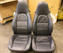 996 Carrera Turbo GT2 Boxster seats Black Supple Leather 12 way