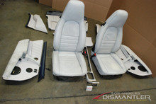 Porsche 911 964 White Navy Blue Interior Seats Panels Console Trim Left Right