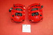Porsche 970 Panamera Pair Rear Brake Calipers Left & Right Brembo Big Red OEM