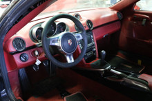Porsche Cayman R Complete Red Interior Dash Door Panels Brake Wheel Shifter