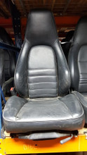Porsche 911 964 930 965 Sport Seats Front Black Heated Driver Passenger Pair