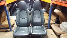 Porsche 911 997 Turbo Sport Adaptive Seats with Memory Grey Leather
