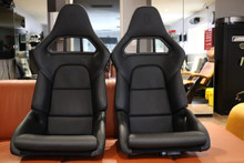 Porsche 911 997 Carbon Bucket Sport Seats GT2 GT3 Leather Black NLA OEM RARE