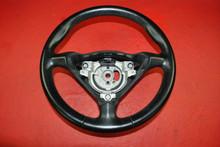 Porsche 911 996 Carrera Boxster Black 3 Spoke Steering Wheel 99634780454 A28 OEM