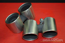 Porsche 911 991 Carrera Dual Exhaust Tips Tail Pipe Left Right OEM Sebring