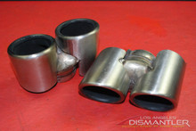 Porsche 911 997 Carrera Dual Exhaust Tips Tail Pipe Left & Right Gillet OEM