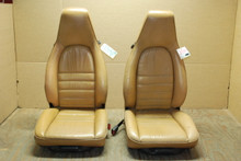 Porsche 911 964 Carrera Seats Tan Leather 8x8 way