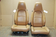 Porsche 911 993 Carrera Seats Tan Perforated Leather 4x8 way OEM