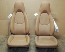 Porsche 997 987 987c Cayman Seats Tan Perforated Leather