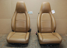 Porsche 911 993 Carrera Seats Tan Perforated Leather 8X8 way