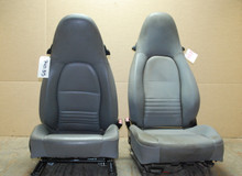 Porsche 911 996 Carrera Seats Grey Perforated Leather way OEM