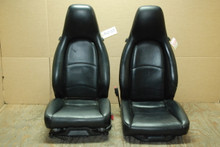 Porsche 911 993 Carrera Seats Black Perforated Leather 4X8 way