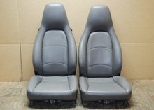 Porsche 911 993 Carrera Grey Perforated Leather Seats OEM
