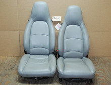 Porsche 911 993 Carrera Grey Perforated Leather Seats 8x8 way power OEM
