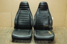 CORE SEATS  Porsche 911 SC Seats Black Perforated Leather Factory OEM