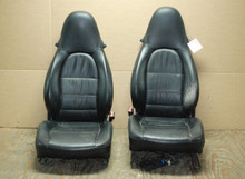 Porsche 911 Turbo 996 Carrera Black  Supple Leather Seats OEM
