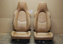Porsche 911 Turbo 997 Carrera 987 Boxster Tan Leather Sport Seats OEM