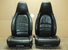 Porsche 911 993 Carrera Seats Black Supple Leather 4x8 way OEM