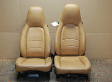 Porsche 911 993 Carrera Seats Tan Supple Leather 4x4 way OEM