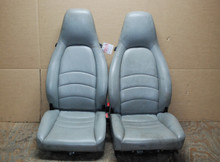 Porsche 911 993 Carrera Seats Light Greay Supple Leather 8x8 way OEM