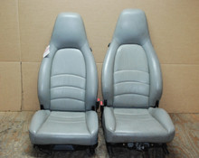 Porsche 911 993 Carrera Seats Grey Supple Leather 8 way OEM