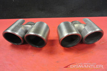 Porsche 911 997 Carrera Dual Exhaust Tips Tail Pipes Left & Right Gillet OEM