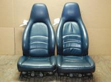 CORE SEATS Porsche 911 993 Carrera Seats Blue Supple Leather