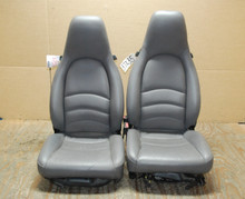 Porsche 911 993 Carrera Seats Grey Supple Leather 4x4 way power OEM