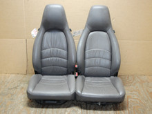 Porsche 911 993 Carrera Seats Grey Supple Leather 8x8 way power OEM