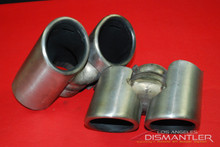 Porsche 911 997 Carrera Dual Exhaust Tips Tail Pipe Left & Right OEM Gillet.