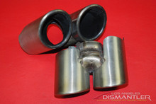 Porsche 911 997 Carrera Dual Exhaust Tips Tail Pipe Left & Right Gillet.