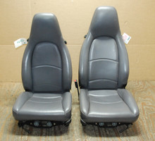 Porsche 911 993 Carrera Seats Grey Perforated Leather Seats, OEM