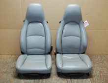 Porsche 911 993 Carrera Seats Grey Perforated Leather 8x8 way power, Factory OEM