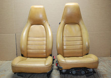 Details about  Porsche 911 964 Carrera TAN 4 Way Leather Seats Pair LEFT RIGHT Factory OEM