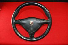 Porsche 911 996 986 Boxster Carrera 3 Spoke Leather Steering wheel with Airbag