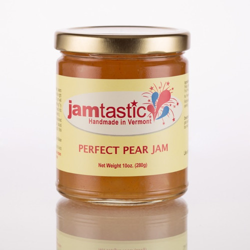 Another amazing addition for 2017, our Perfect Pear Jam is just that, Perfect! Inspired by a customer's request for favors we are producing for her wedding (she and her groom refer to themselves as The Perfect Pair!), this wonderful tasting jam is made with Bartlett Pears, Granny Smith Apples and just a subtle hint of cinnamon! Just perfect! Try this on anything...it's so good it's Jamtastic!